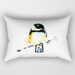 Chickadee - Winter friend Rectangular Pillow