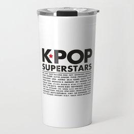 KPOP Superstars Original Boy Groups Merchandse Travel Mug