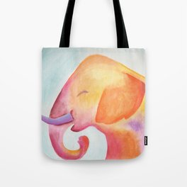 Cheerful Elephant v.1 Tote Bag