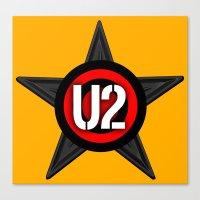 u2 Canvas Prints featuring U2 by loveme