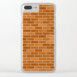 Brown Brick wall Clear iPhone Case