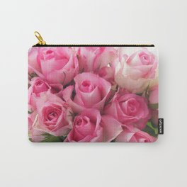 Pink Roses Bouquet Carry-All Pouch
