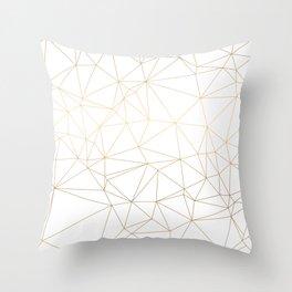 Geometric Gold Minimalist Design Throw Pillow