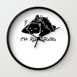 Bear Panda Lazy sleeping Nothing doing Couch gift Wall Clock