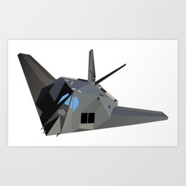 American Stealth Attack Aircraft F-117 Art Print