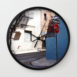 Colorful Street, Greenwich Village NYC Wall Clock