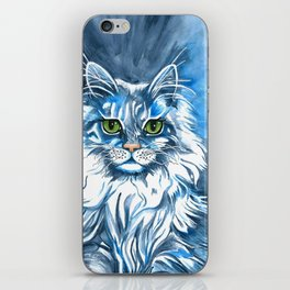 Blue Maine Coon iPhone Skin