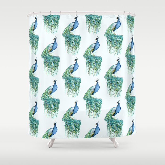 Peacock Shower Curtain By Samnagel