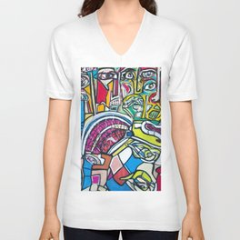 Study For A Face Unisex V-Neck