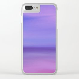 Where The Sky Meets the Ocean Clear iPhone Case