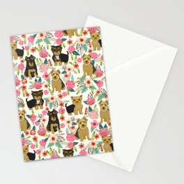 Yorkshire Terrier cute florals must have gifts for dog lover yorkie owners delight secret gifts art Stationery Cards