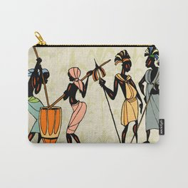 Man ethic african people collage Carry-All Pouch