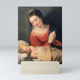 Peter Paul Rubens - Virgin in Adoration before the Christ Child Mini Art Print