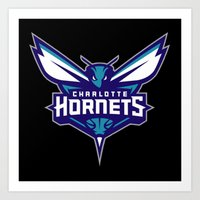 nba Art Prints featuring NBA - Hornets by Katieb1013