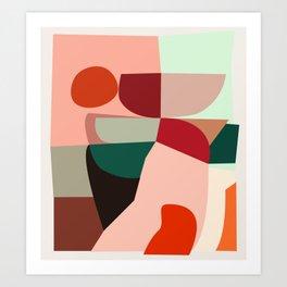 Geometric shapes Art Print
