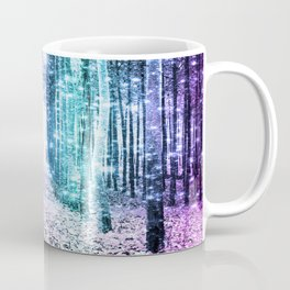 Magical Forest Lavender Aqua Teal Ombre Coffee Mug