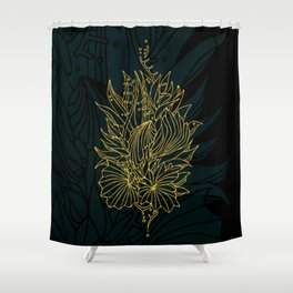 Nested in Gold Shower Curtain