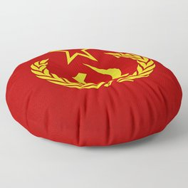 Hammer and Sickle Textured Flag Floor Pillow