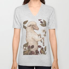 The Sheep and Blackberries Unisex V-Neck