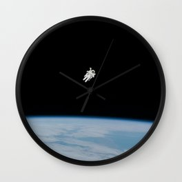 Space Walk Exploration Wall Clock