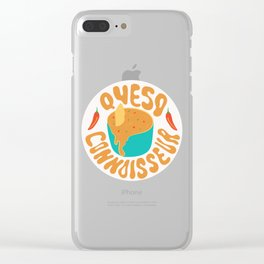 Queso Connoisseur Clear iPhone Case