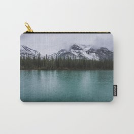 Landscape Photography | Pine Trees | Mountains | Lake in a Storm | Rain | Majestic Carry-All Pouch