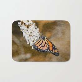 Monarch in the Fall Bath Mat