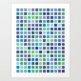 City Blocks - Ocean #889 Art Print