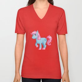 Cute little pony Unisex V-Neck