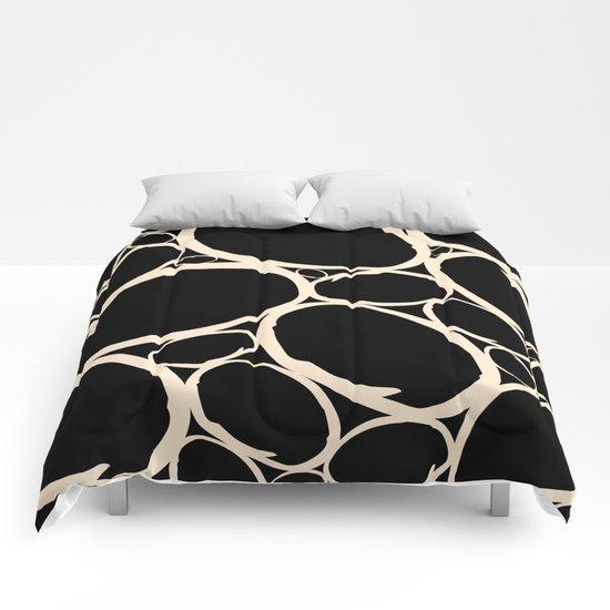 Circles  |  Cream & Black Comforters