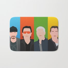 U 2 - Bono, the Edge, Adam Clayton, Larry Mullen Jr Bath Mat
