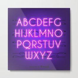 neon3 Metal Print