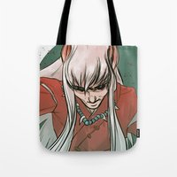 inuyasha Tote Bags featuring Inuyasha by LaurenceBaldetti