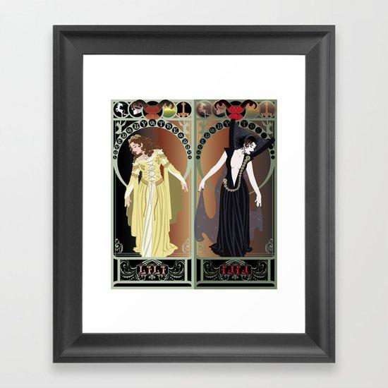 Legend Nouveau - Mirrored Framed Art Print