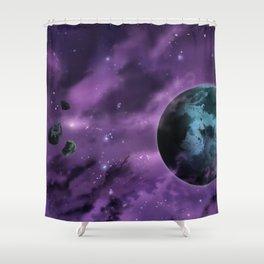 Drifting through Nebulae Shower Curtain