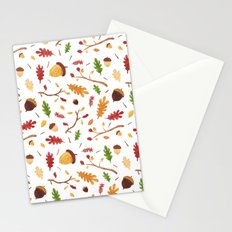 Autumn leaf pattern Stationery Cards