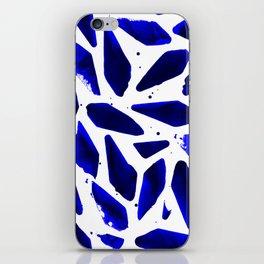 Cobalt Blue Ink Blots iPhone Skin