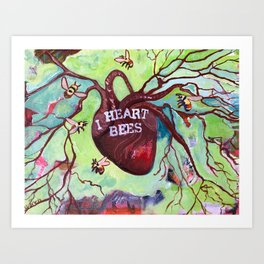 I Heart Bees Art Print
