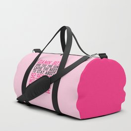 Damn Boy Funny Quote Duffle Bag
