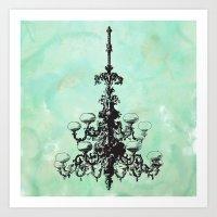 chandelier Art Print