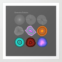 Generative Evolution Beta Art Print