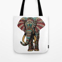Ornate Elephant (Color Version) Tote Bag