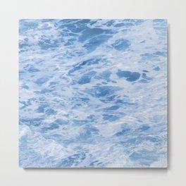 Exotic Indian Ocean Foamy, Bubbly Waves Metal Print