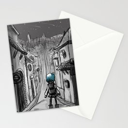 Uphill road Stationery Cards