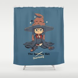 The Shortening Hat Shower Curtain
