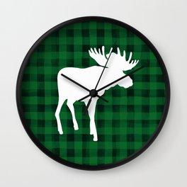 Woodland Moose Wall Clock