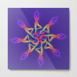 Yoga Flower, Yoga Art Metal Print
