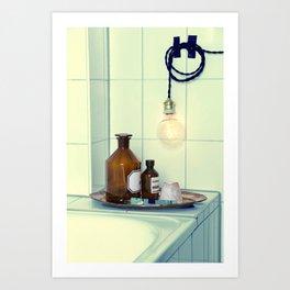 Bathroom set  Art Print