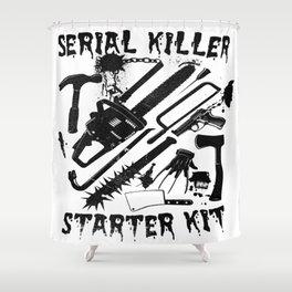 SERIAL KILLER STARTER KIT. Shower Curtain