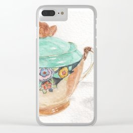 Sugar and Creamer Clear iPhone Case